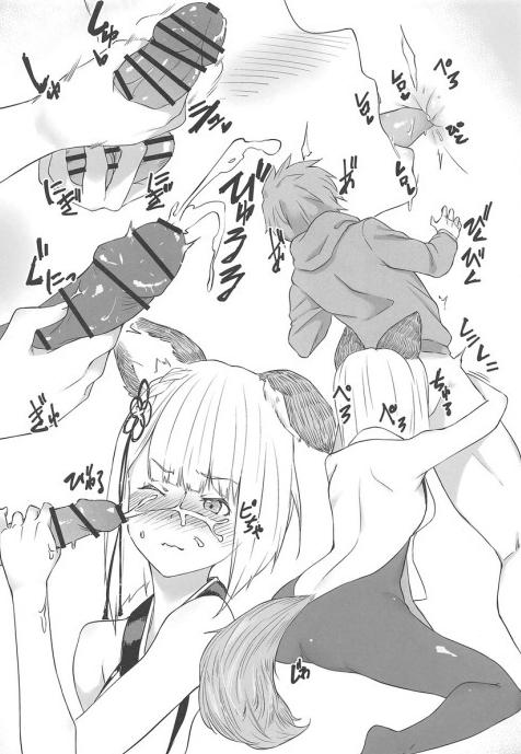 5 - 【エロ同人誌 グラブル】『団長の凄い匂いだな…♡』ヴァジラが団長を押し倒して濃厚フェラ&足コキでイかせる♡絶倫勃起チンコに跨って騎乗位で子宮奥に直接濃いザーメンを中出しで注いでもらう♡《アニメ・ゲーム》